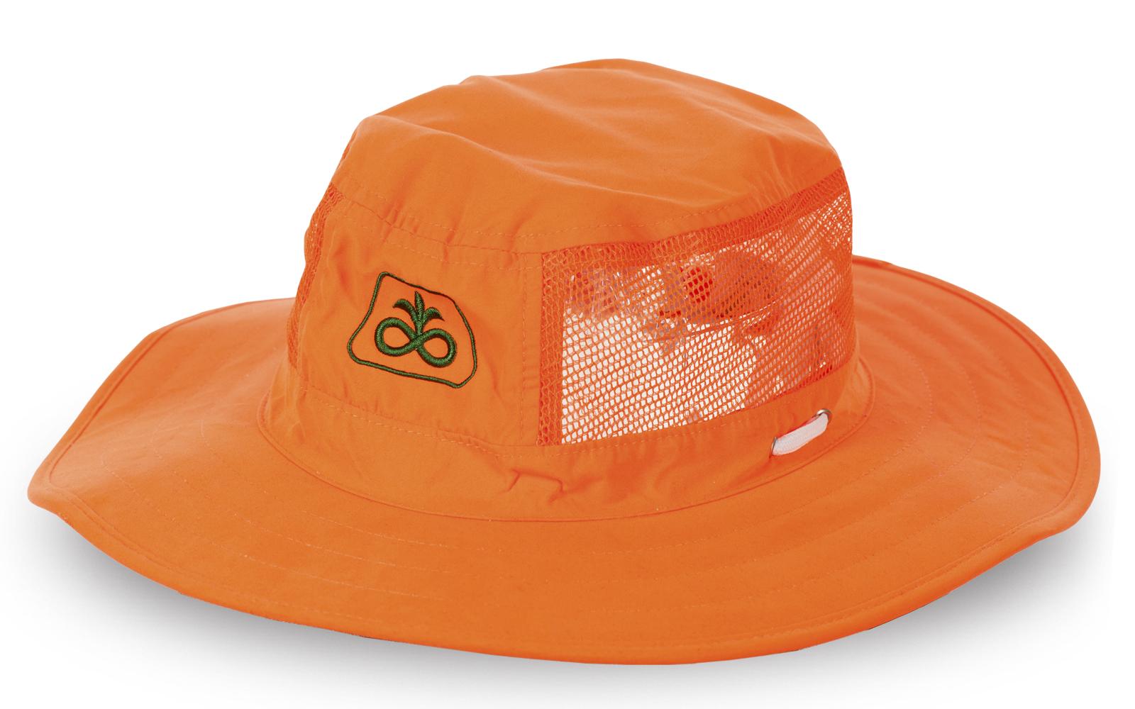 Эксклюзивная оранжевая шляпа с вентиляцией