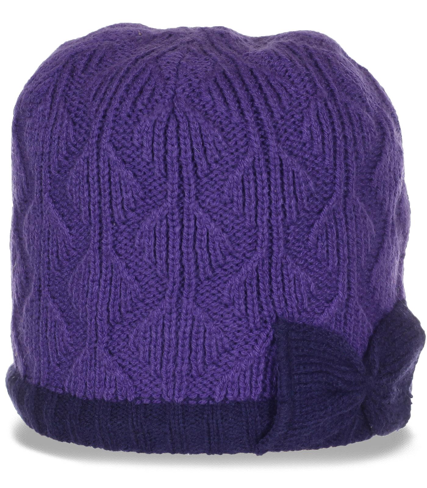 Эксклюзивная женская шапка с теплой флисовой подкладкой. Модницы, налетай!