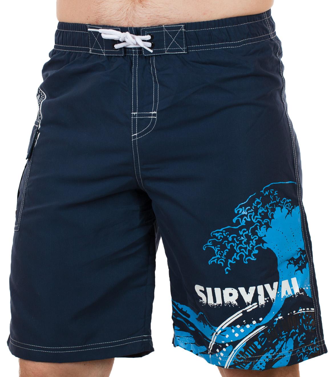 Эксклюзивные мужские шорты с принтом Survival от In Extenso (Франция)