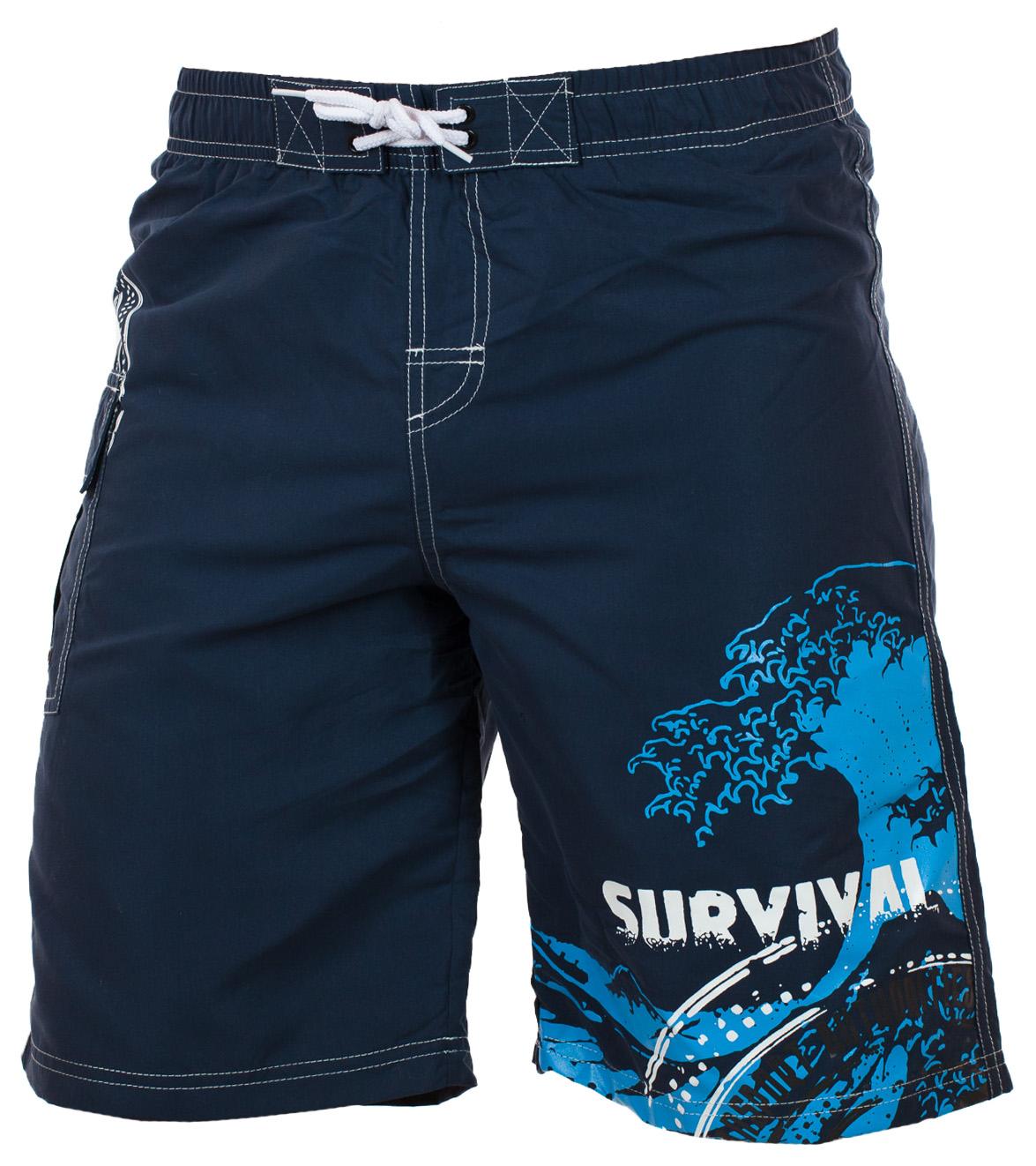 Заказать эксклюзивные мужские шорты с принтом Survival от In Extenso (Франция)