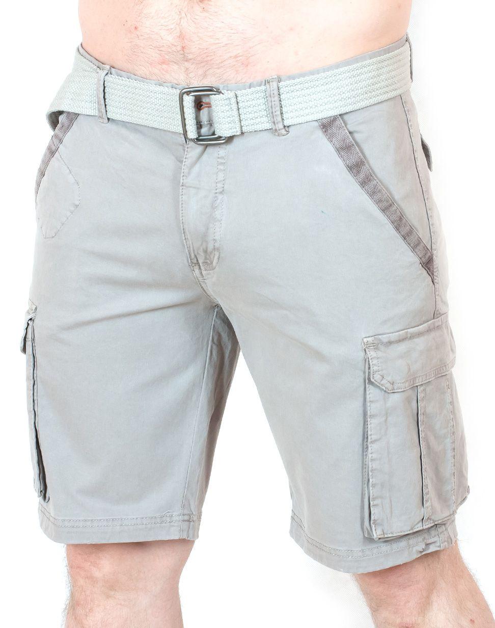 Эксклюзивные светлые шорты карго - вид спереди