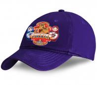 Эксклюзивный и недорогой сувенир от Военпро! Красочная кепка Russia  с принтом «Матрешки и русский мишка» от наших превосходных дизайнеров по лучшей цене!