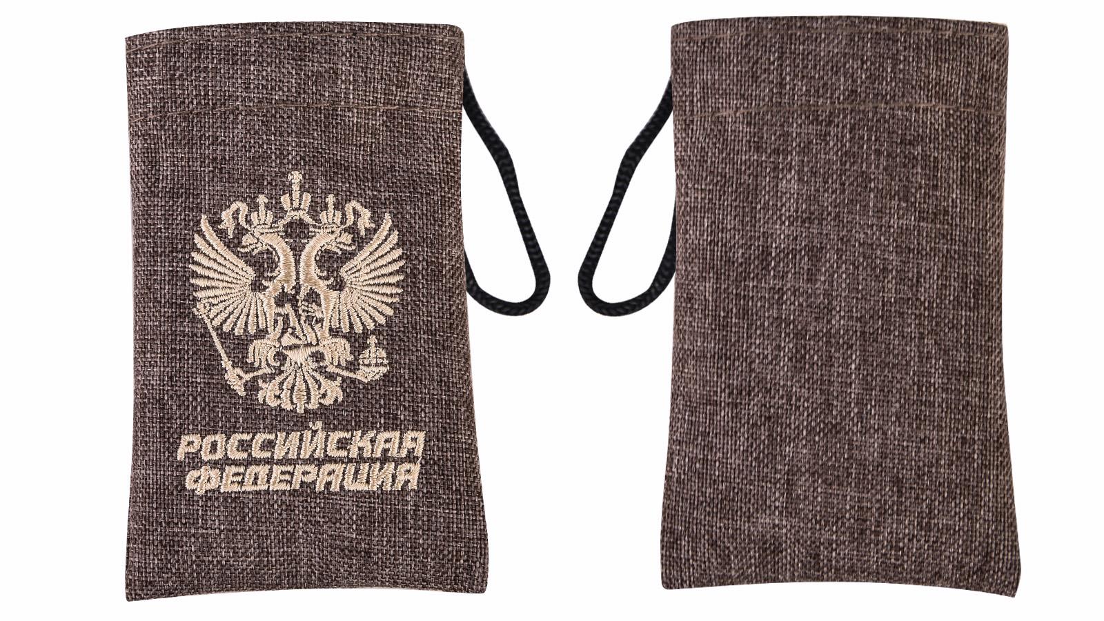 Эксклюзивный набор для похода в чехле с гербом России. Нож, вилка, ложка, 2 открывашки