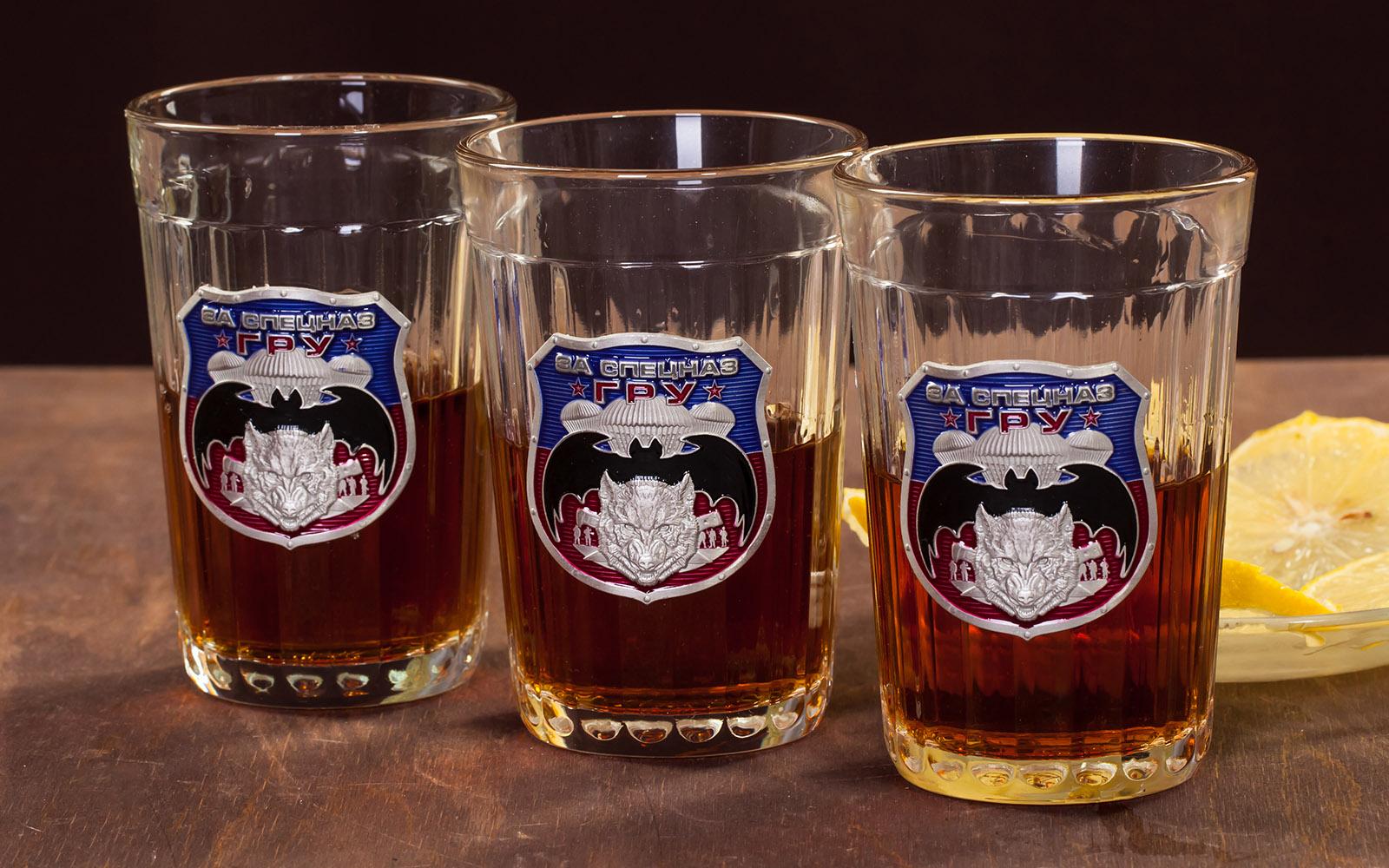 """Эксклюзивный набор гранёных стаканов """"За Спецназ ГРУ"""" по лучшей цене"""