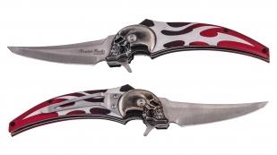 Эксклюзивный нож байкеров с черепом Master Cutlery Hell Blade by Dimitri Patelis MC1030RD (США)
