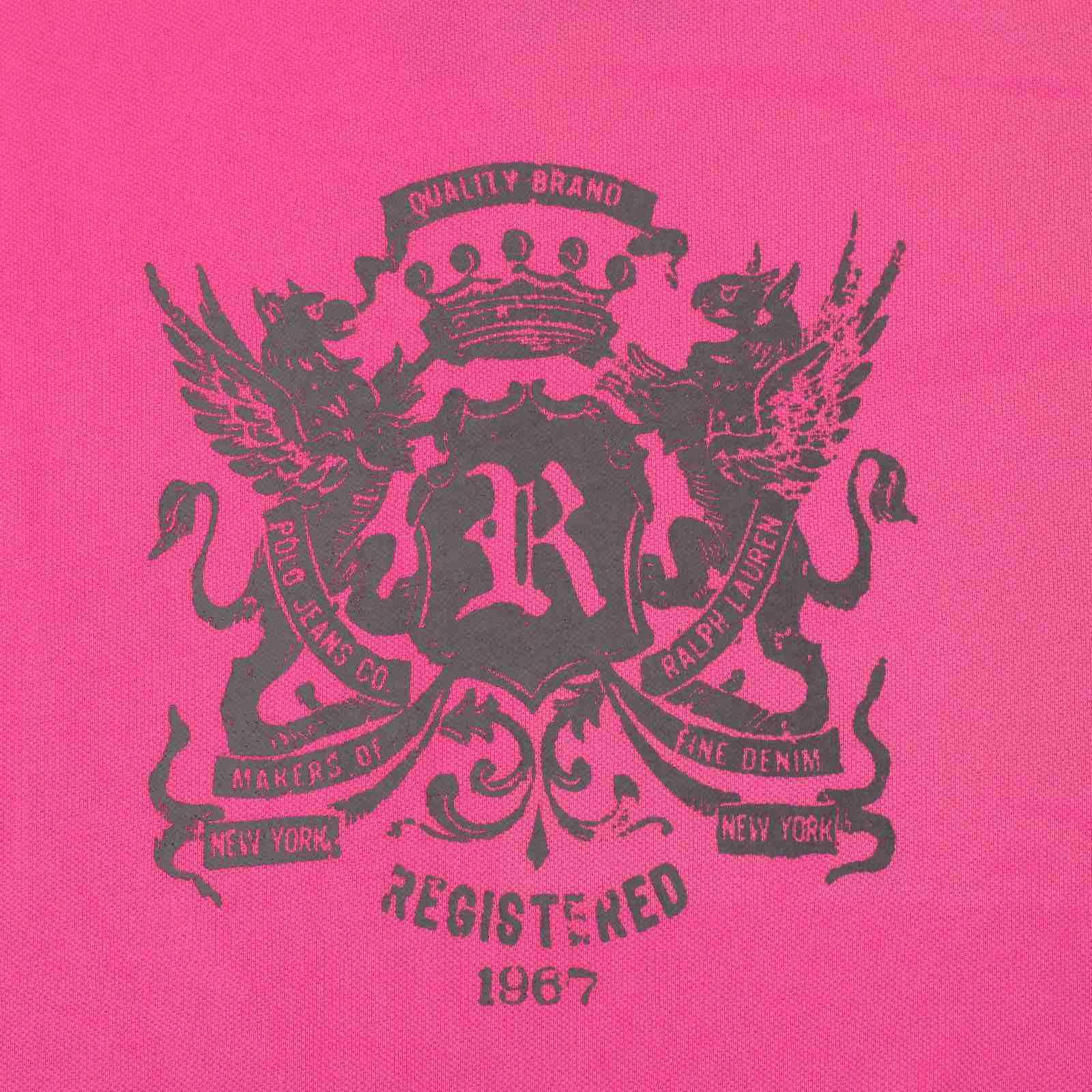 Элегантная футболка от модного американского бренда Ralph Lauren-принт