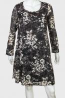 Элегантное двуслойное платье с нежным принтом от Paeme