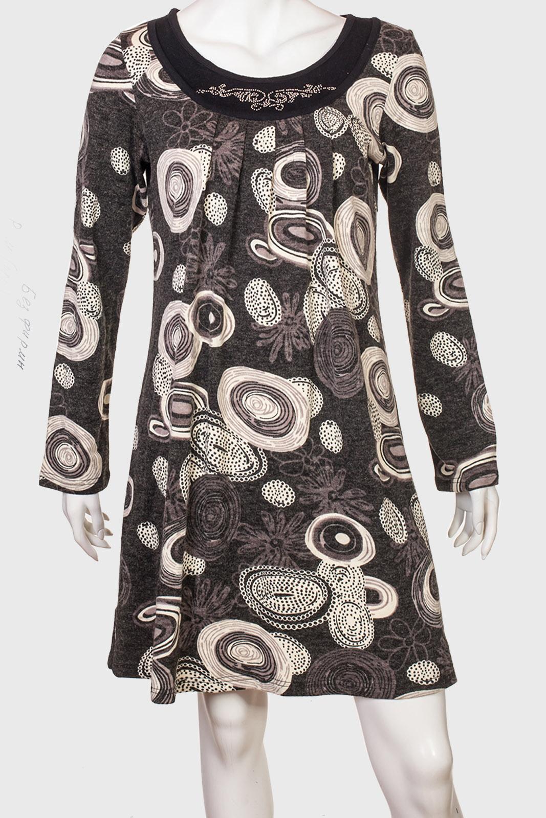 05e6766138c Элегантное женское платье с широким рукавом