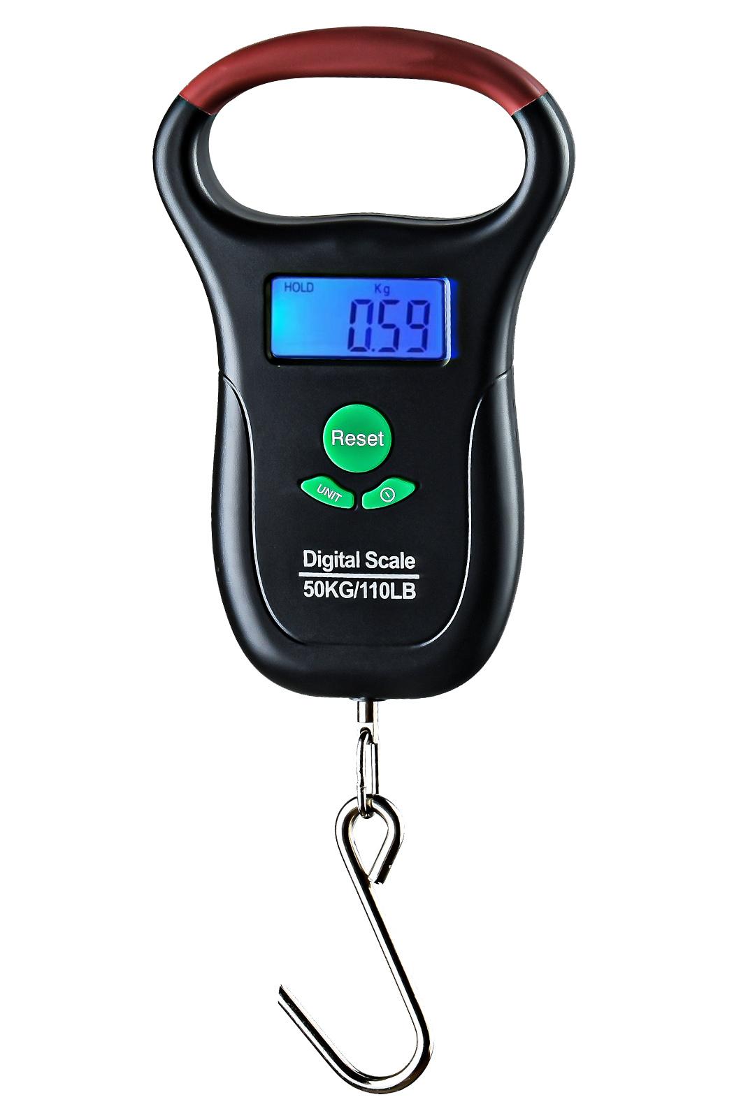 Электронные походные весы до 50 кг с термометром и рулеткой