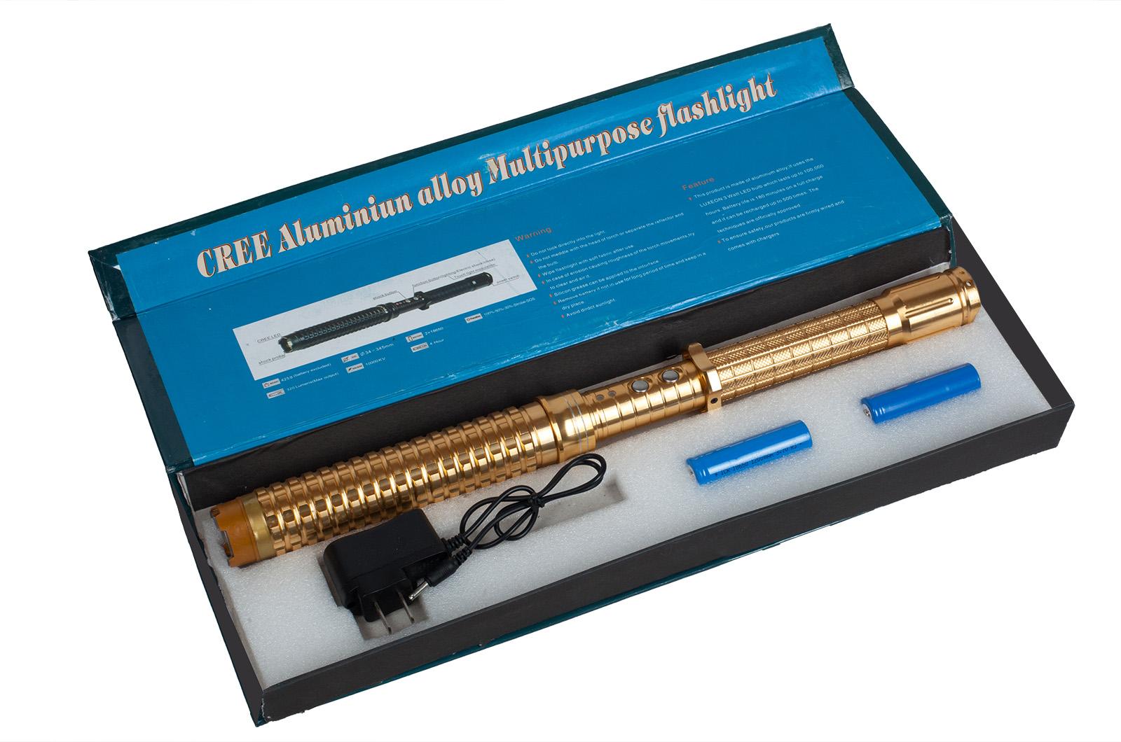 Заказать электрошокер дубинка с фонариком HY-X10