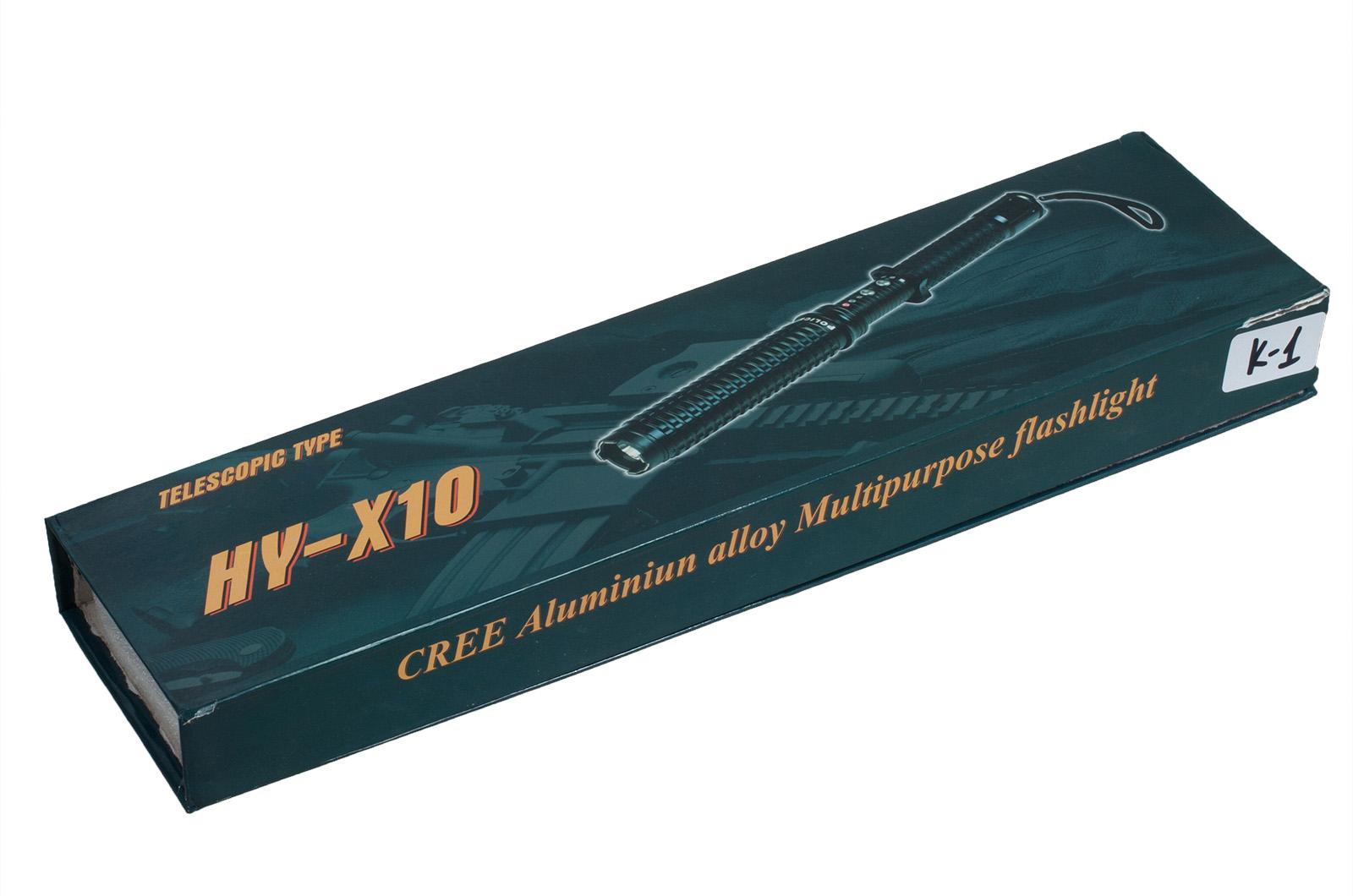 Электрошокер дубинка с фонариком HY-X10 с доставкой