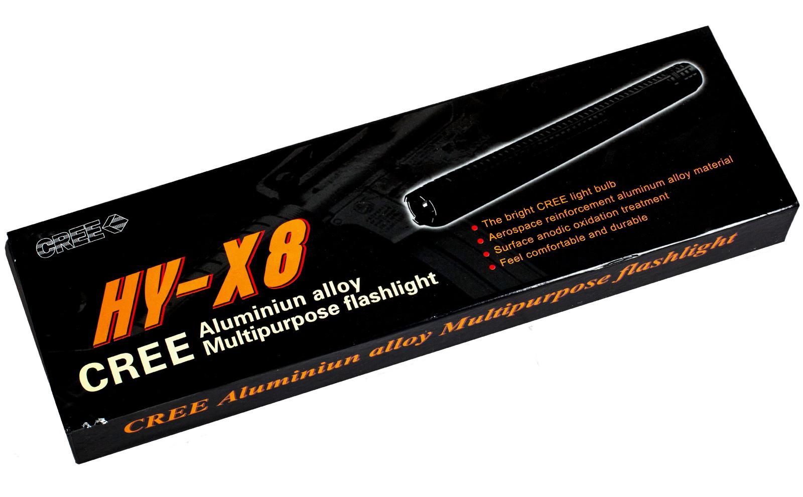 Электрошокер-фонарь-дубинка X8 Cree Metal