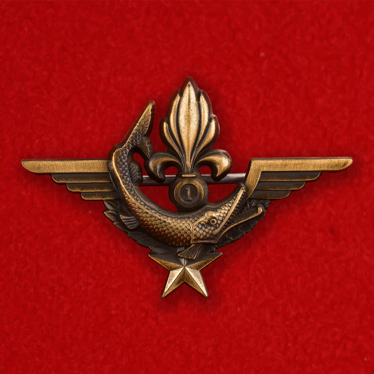 Эмблема боевых пловцов DINOPS (PCG) 1 REG Иностранного Легиона