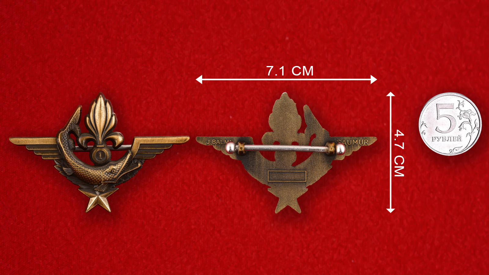 Значок в подарок ветеранам DINOPS Французского Иностранного Легиона