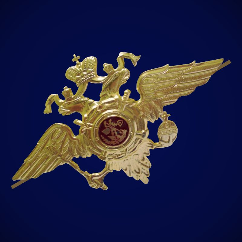 Эмблема МВД на тулью фуражки (большая)