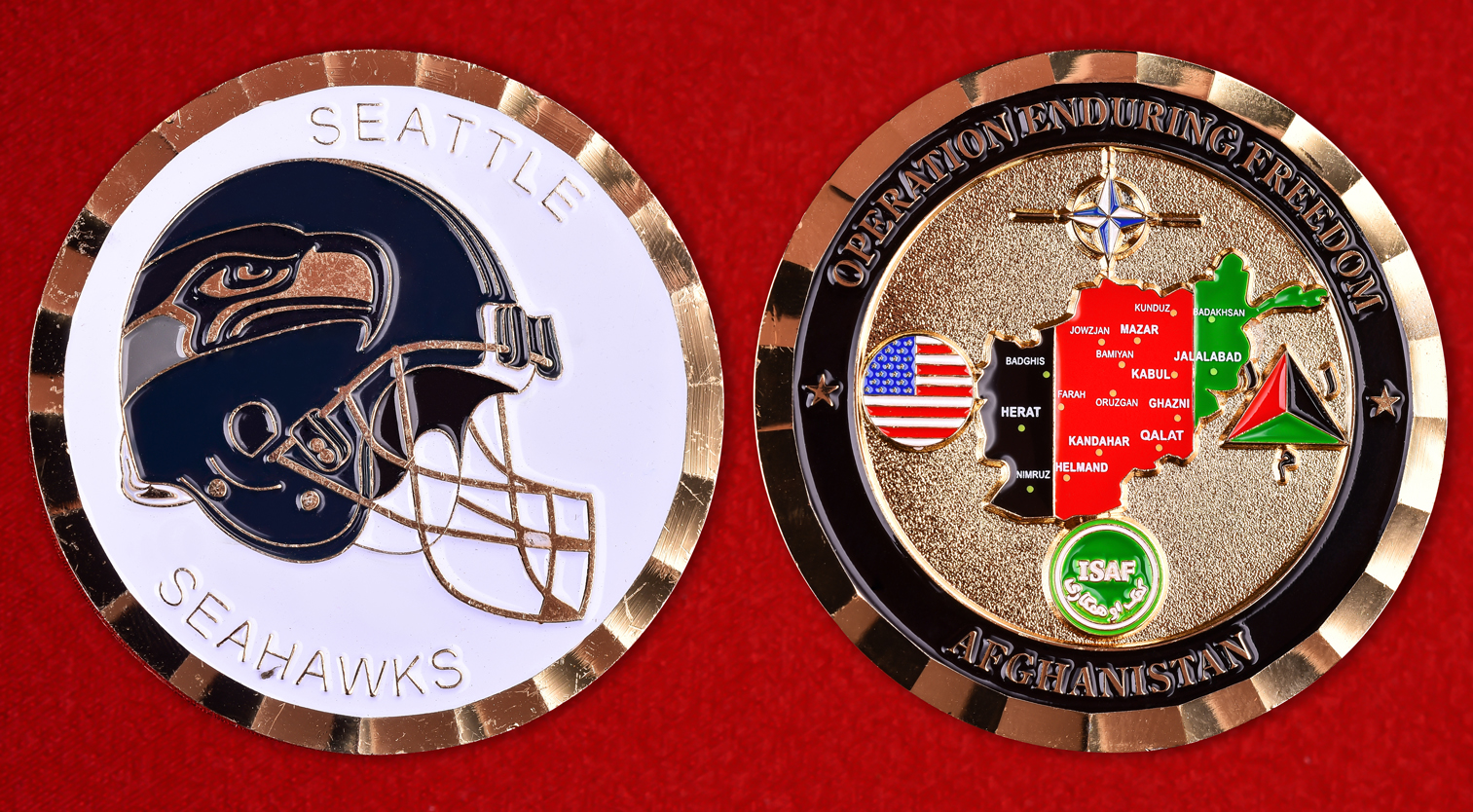 "Эмблема NFL Seattle Seahawks ""Enduring Freedom"""
