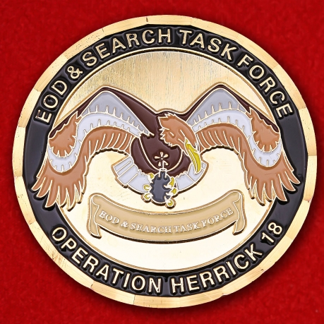 EOD & Search Task Force Operation Herrick 18 Challenge Coin