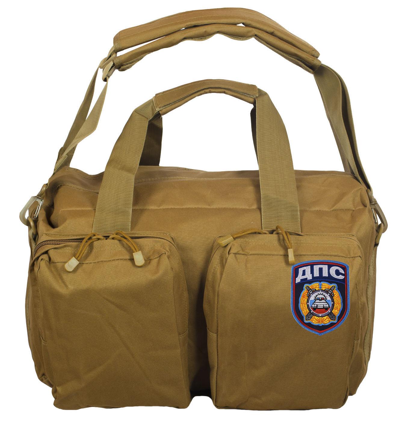 Эргономичная мужская сумка-рюкзак с нашивкой ДПС