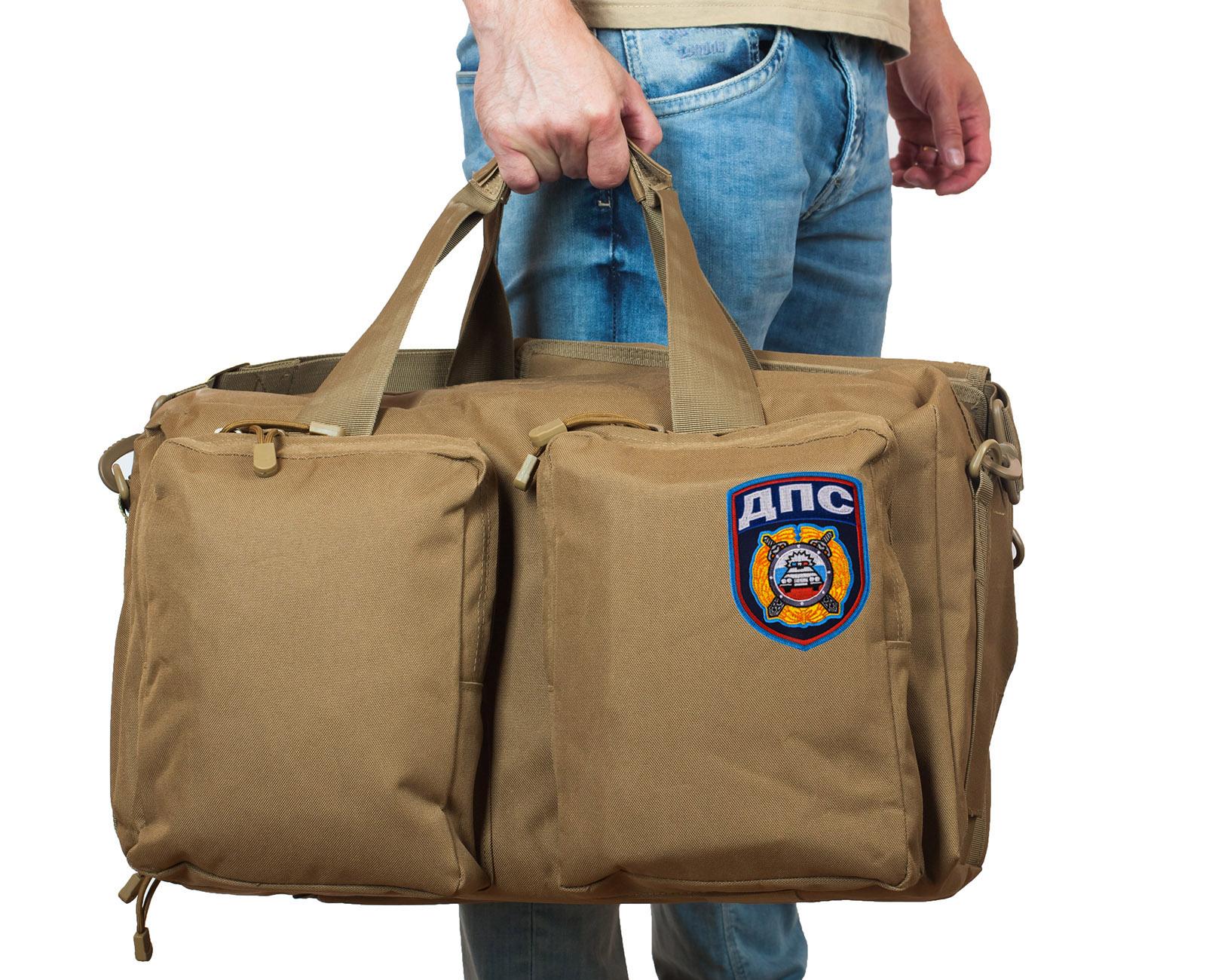 Эргономичная мужская сумка-рюкзак с нашивкой ДПС - заказать оптом