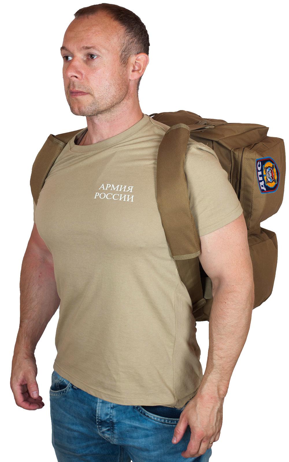 Эргономичная мужская сумка-рюкзак с нашивкой ДПС - заказать в розницу