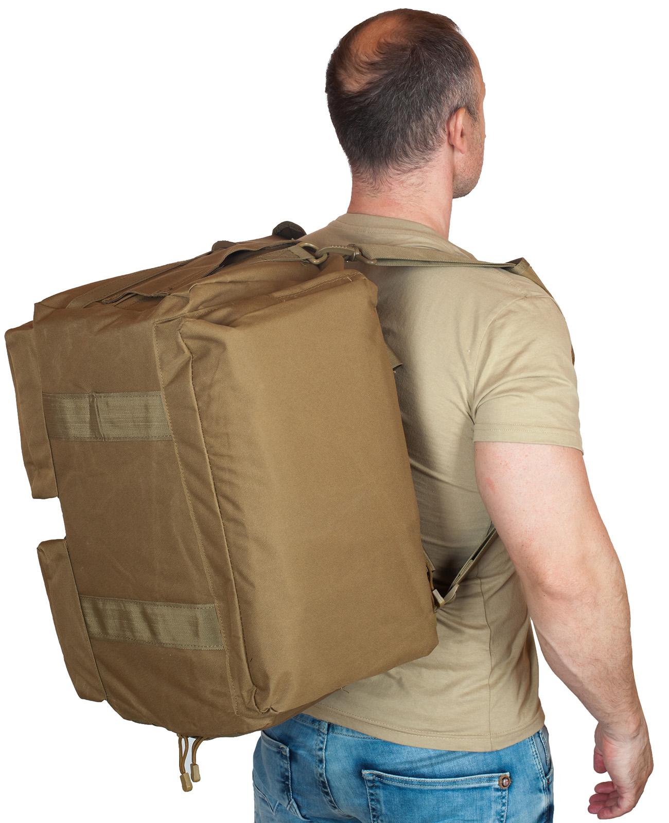 Эргономичная мужская сумка-рюкзак с нашивкой ДПС - заказать выгодно