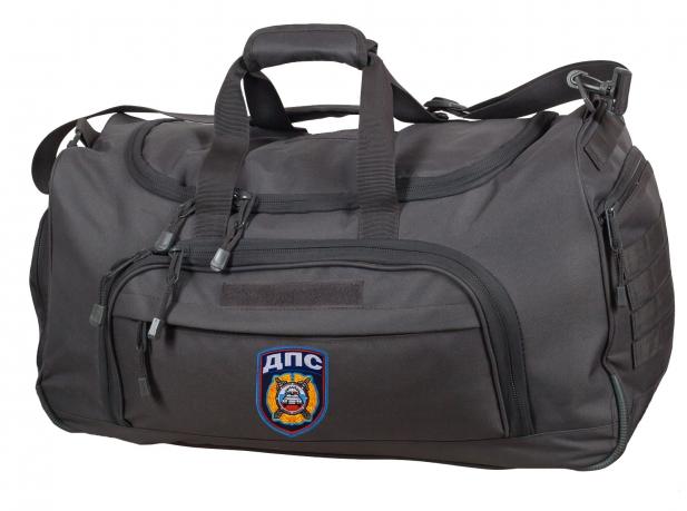 Эргономичная темно-серая сумка с нашивкой ДПС 08032B