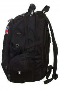 Эргономичный черный рюкзак с нашивкой НОВОРОССИЯ - купить оптом