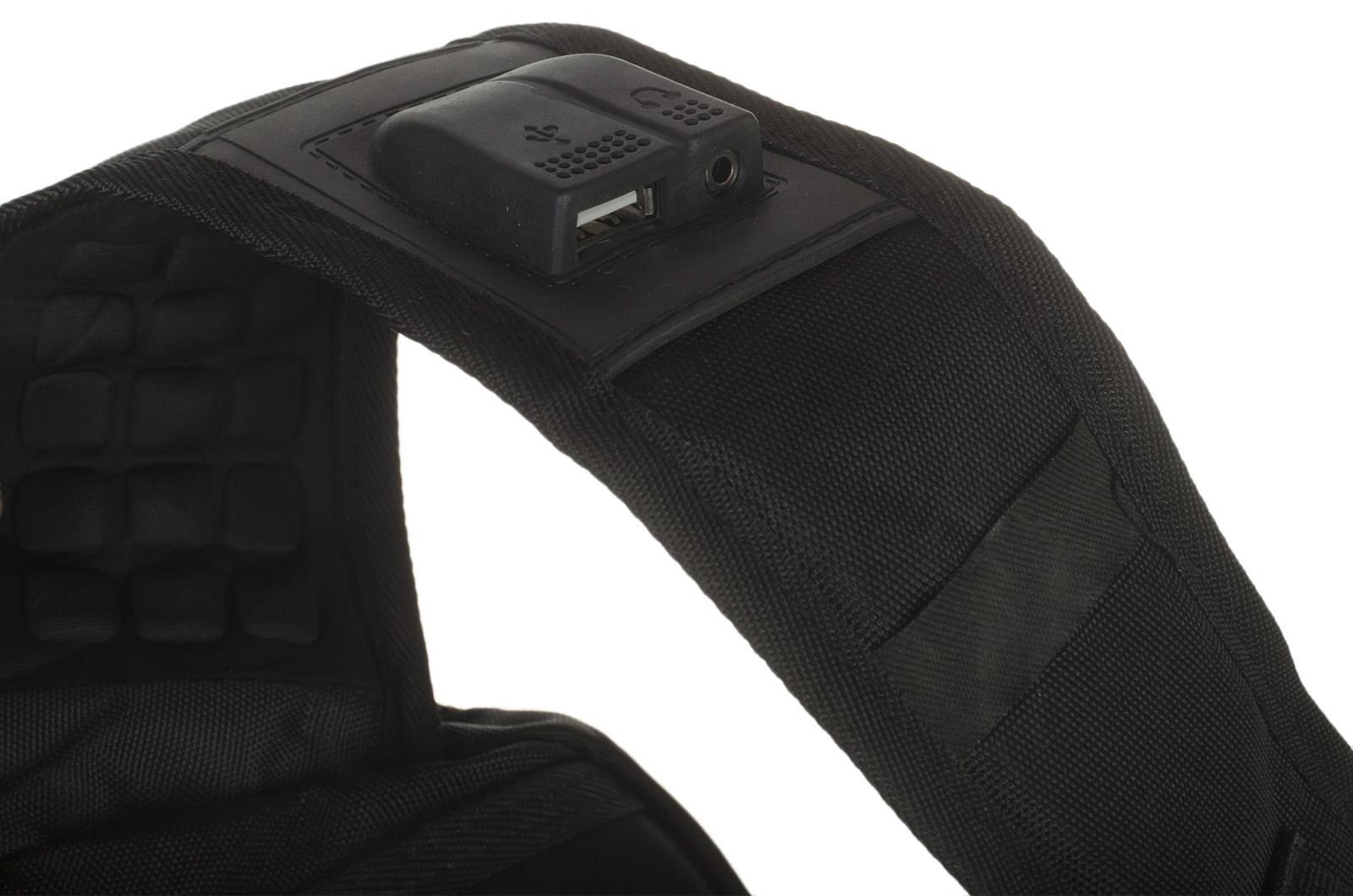 Эргономичный черный рюкзак с нашивкой НОВОРОССИЯ - купить в розницу