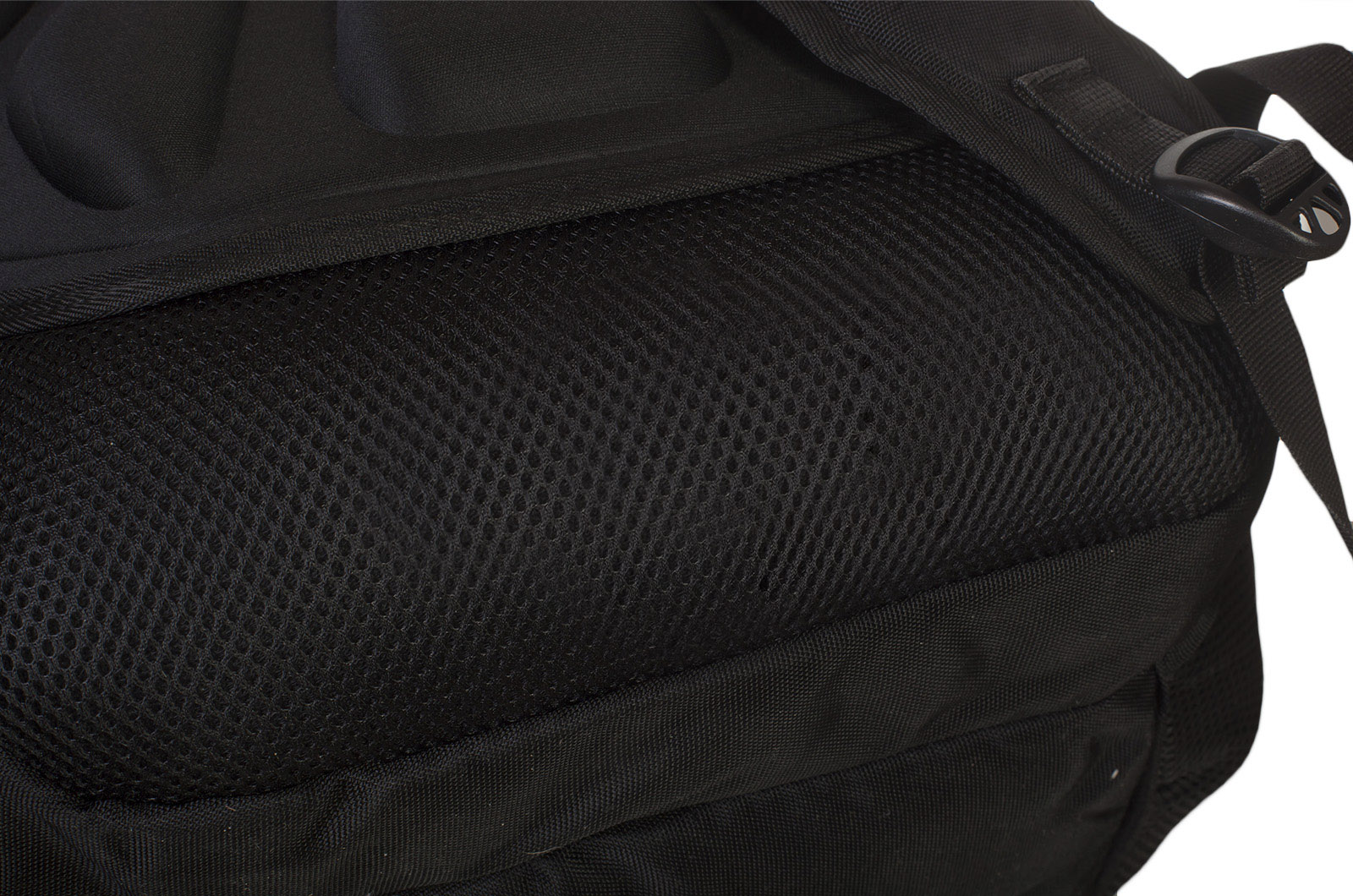 Эргономичный черный рюкзак с нашивкой НОВОРОССИЯ - купить выгодно