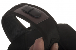 Эргономичный черный рюкзак с нашивкой Погранслужба - купить в Военпро