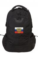 Эргономичный черный рюкзак с нашивкой Штандарт Президента