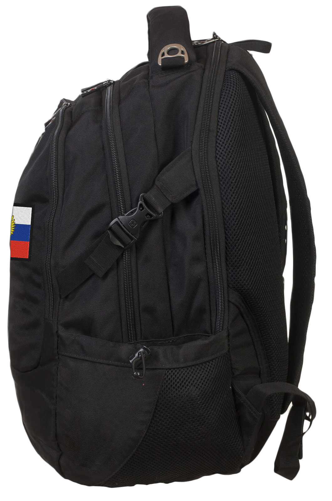 Эргономичный черный рюкзак с нашивкой Штандарт Президента - купить с доставкой