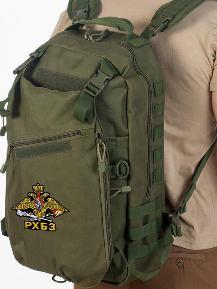 Эргономичный милитари рюкзак с нашивкой РХБЗ