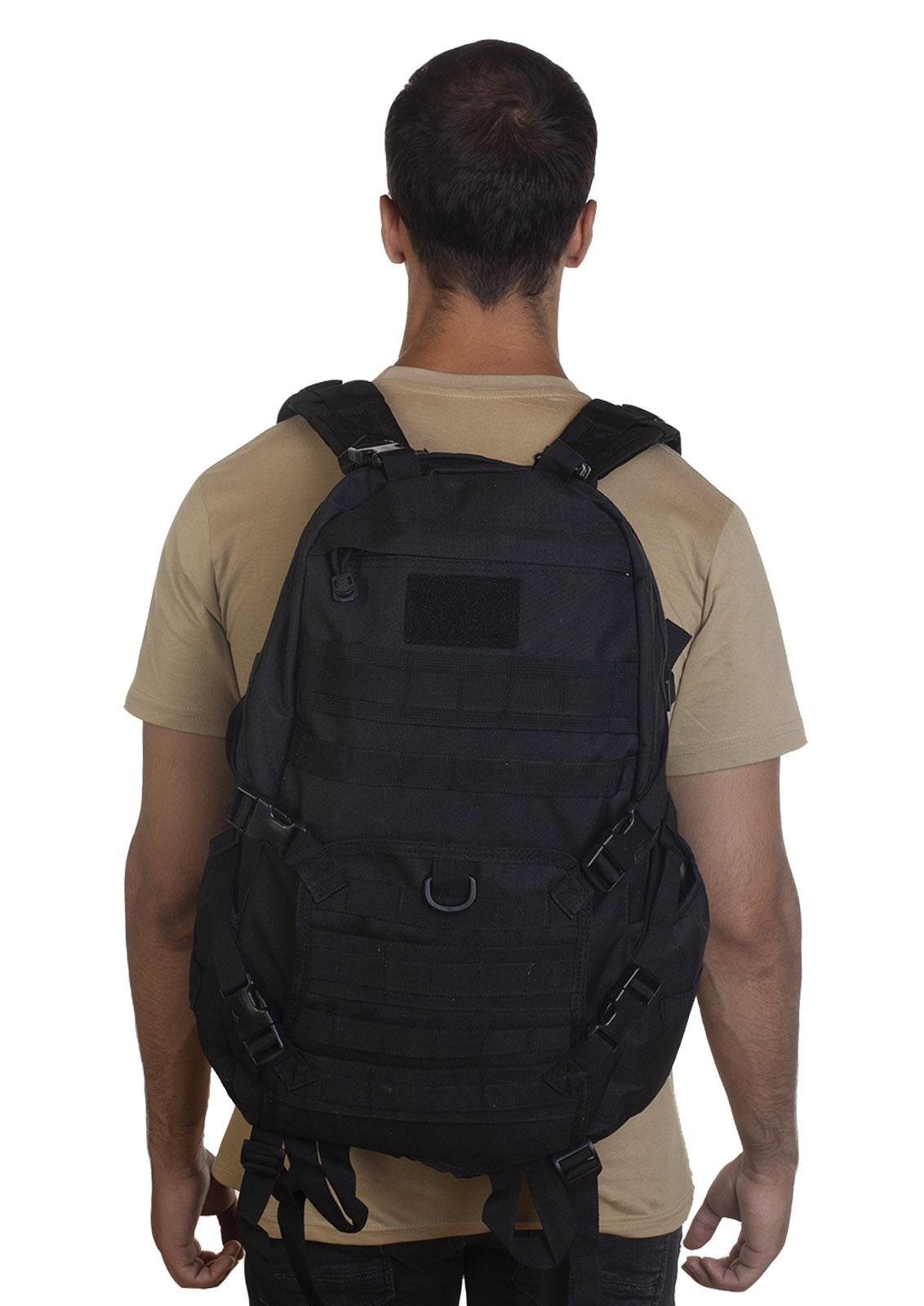 Черный эргономичный рюкзак - в Военпро