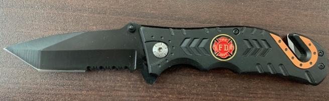 Эргономичный складной нож со стеклобоем и стропорезом