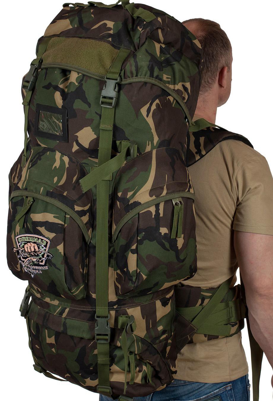Эргономичный туристический рюкзак с рыбацкой нашивкой