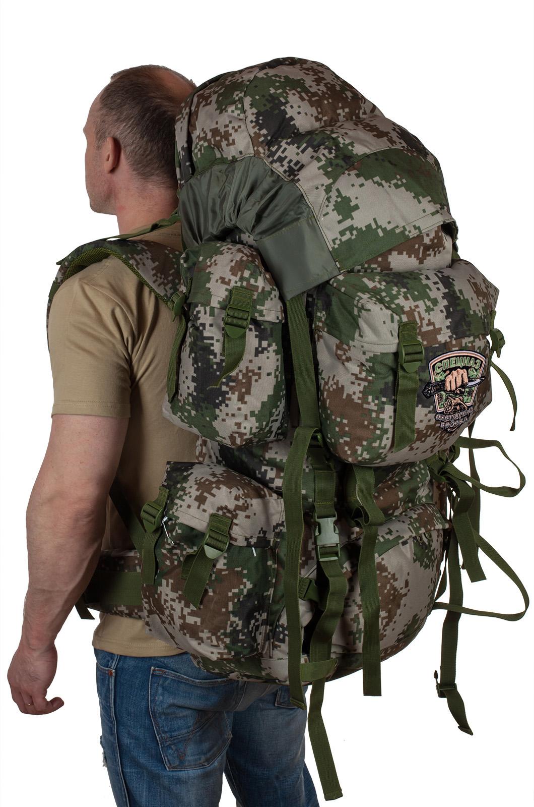 Эргономичный вместительный рюкзак с нашивкой Охотничий Спецназ - заказать по низкой цене