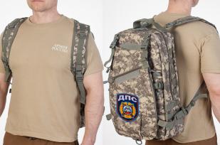 Эргономичный военный рюкзак с нашивкой ДПС -купить в розницу