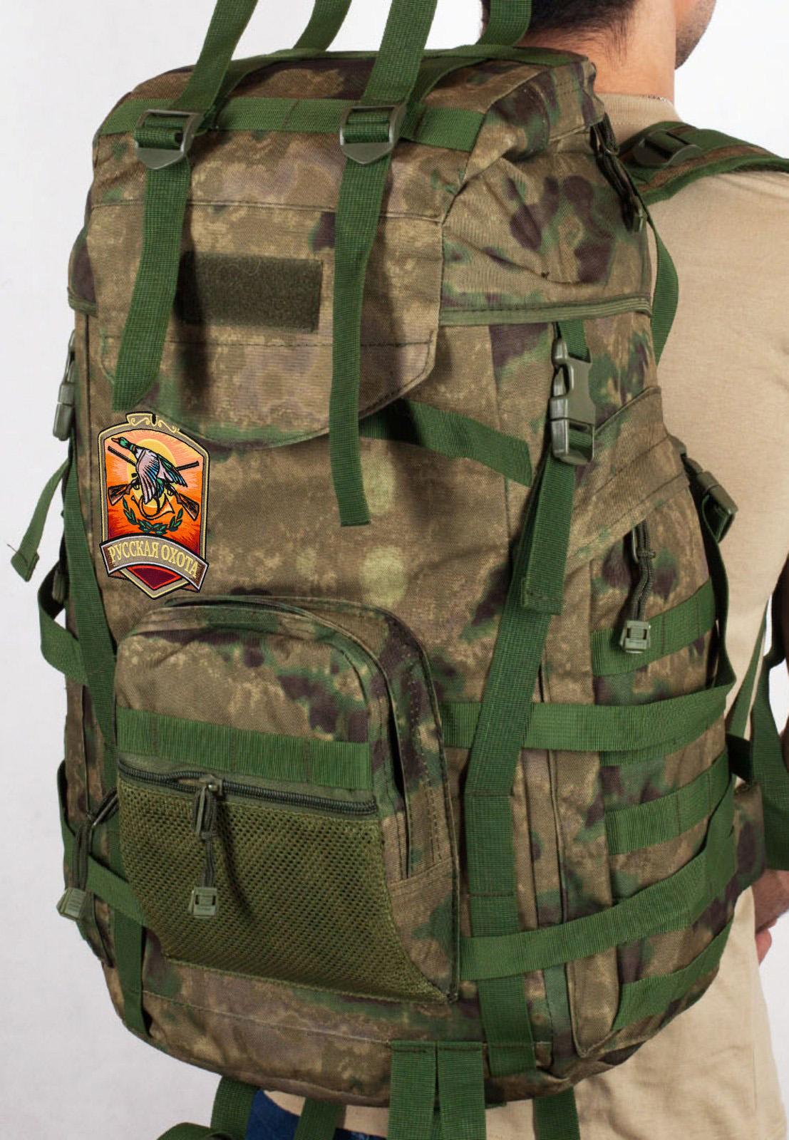 Эргономичный заплечный рюкзак с нашивкой Русская Охота
