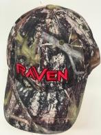 Бейсболка камуфляж Raven с красной вышивкой