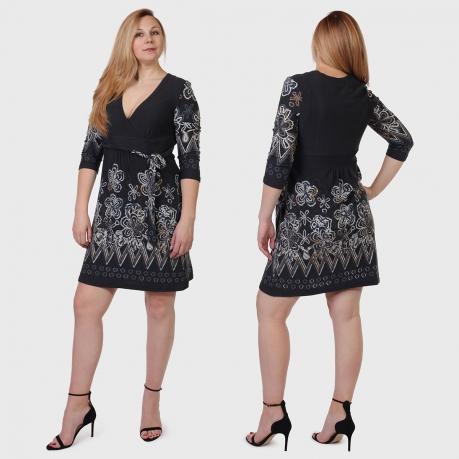 Фактурное платье Coexis с шикарным декольте и завышенной талией.