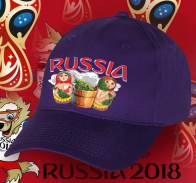 Фанатская бейсболка РОССИЯ – спецсерия к ЧМ по футболу.