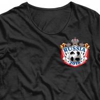 Фанатская аппликация термонаклейка Россия