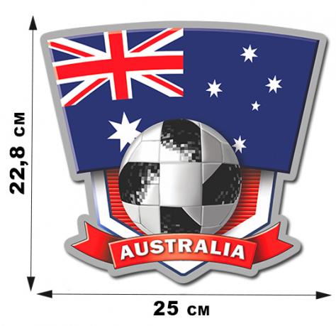 """Фанатская наклейка """"Австралия"""""""