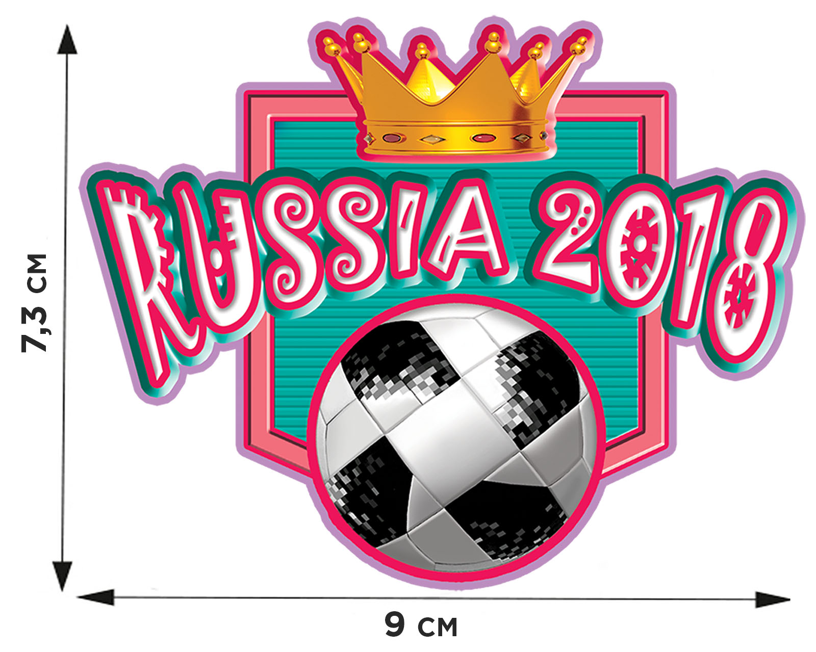 Купить фанатскую термотрансферную картинку Россия оптом или в розницу