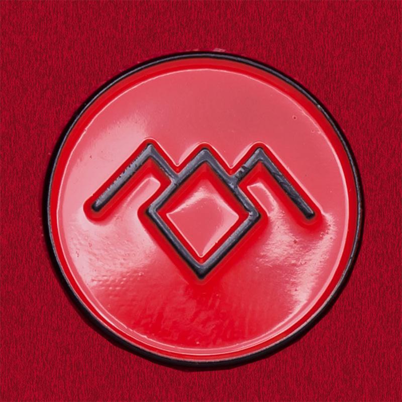 """Фанатский значок культового сериала Твин Пикс """"Совы не то, чем они кажутся"""" (красный)"""
