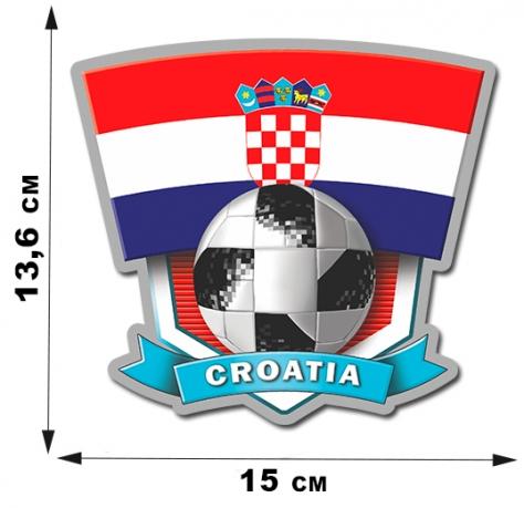 Наклейка сборной команды Хорватии