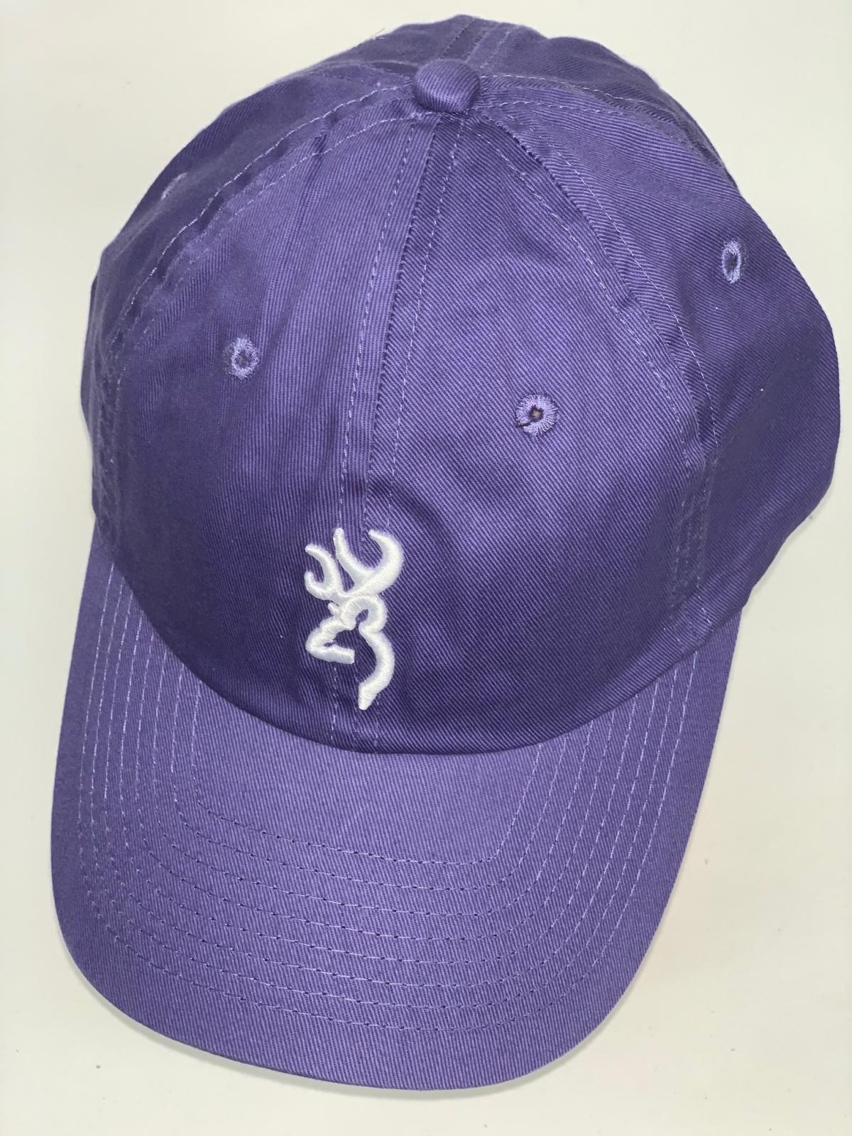 Фиолетовая бейсболка Browning с вышивкой