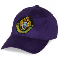 Фиолетовая бейсболка с вышитой эмблемой Пограничной службы