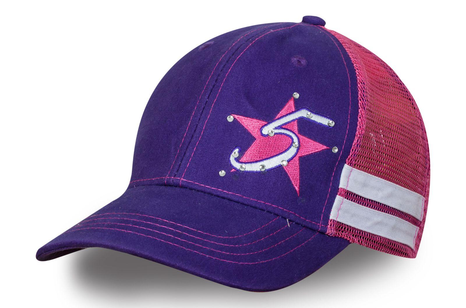 Фиолетовая бейсболка со стразами - купить с доставкой